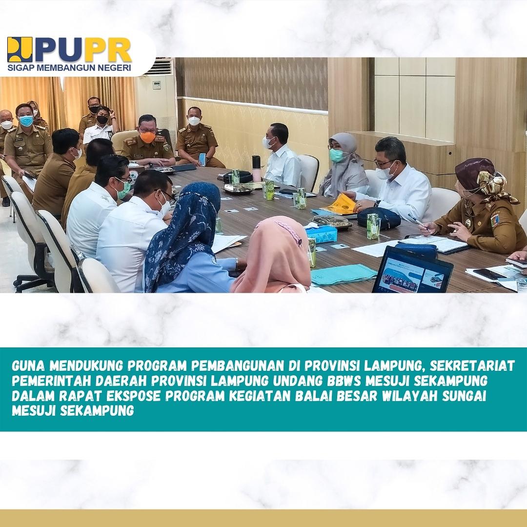 Rapat kegiatan ekspose Program BBWS Mesuji Sekampung