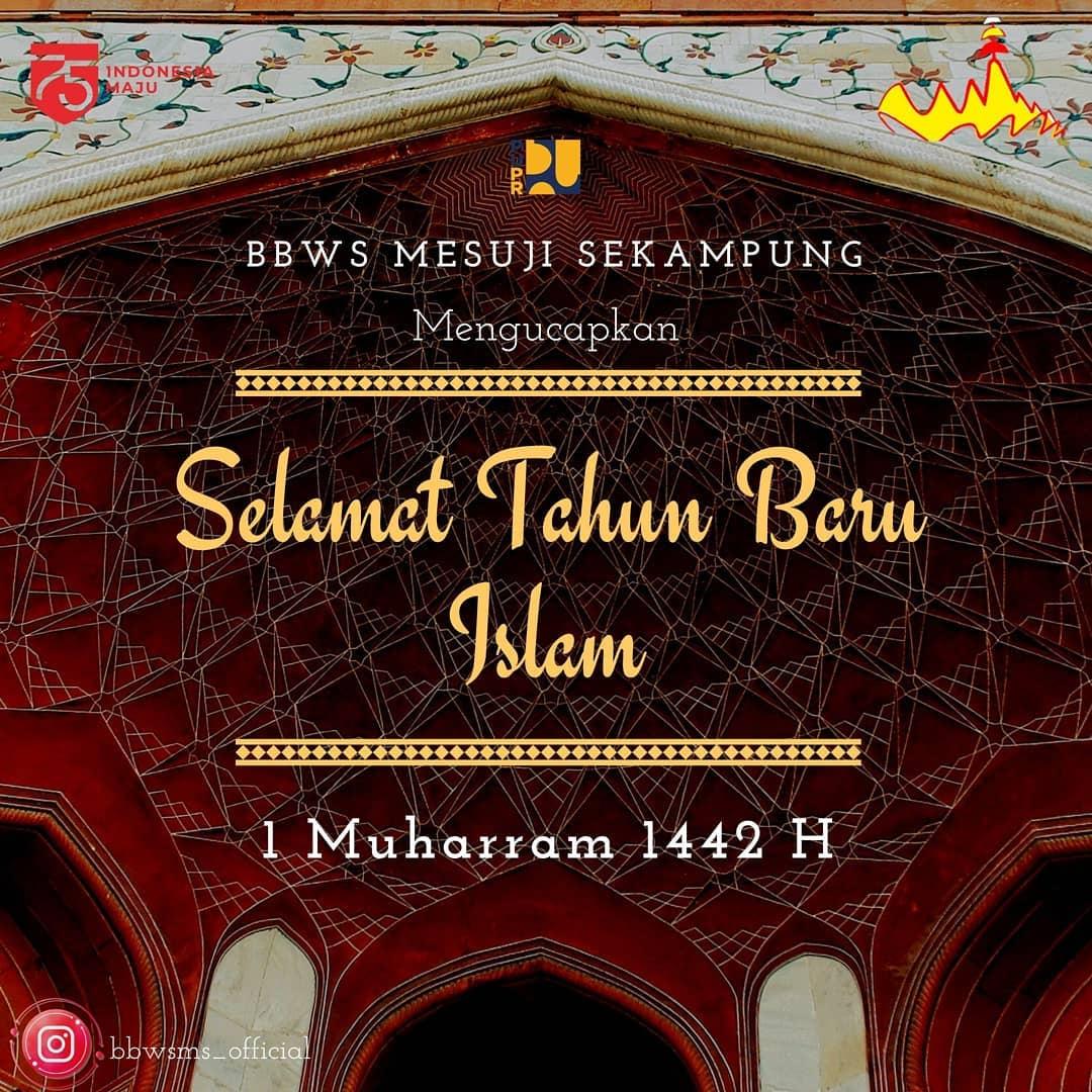 BBWS Mesuji Sekampung Mengucapkan Selamat Tahun Baru Islam 1 Muharram 1442 H