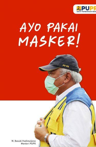 Pakai Masker | Kementerian PUPR | BBWS Serayu Opak | Poster
