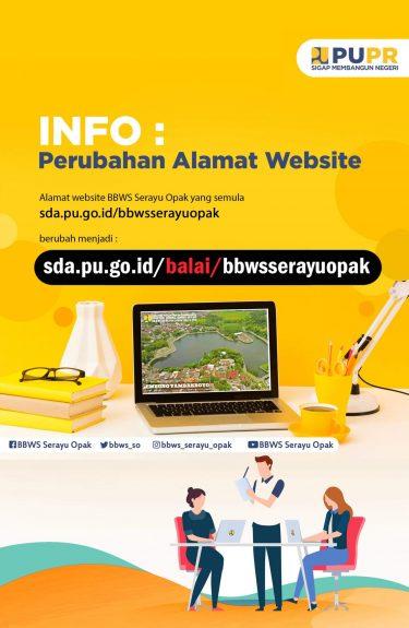 Perubahan url web BBWS Serayu Opak