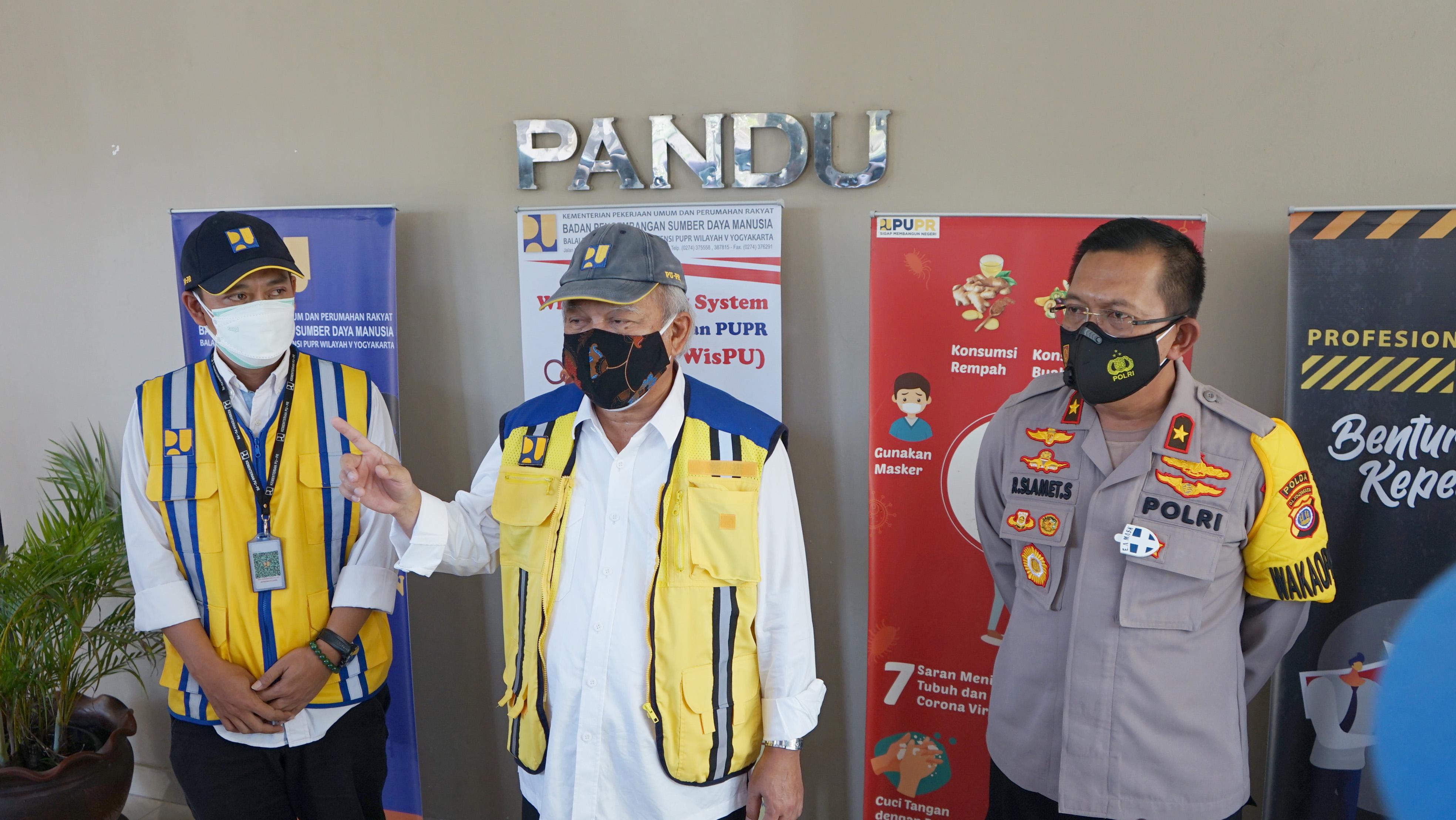 Menteri PUPR Tinjau Fasilitas Isoter di DIY