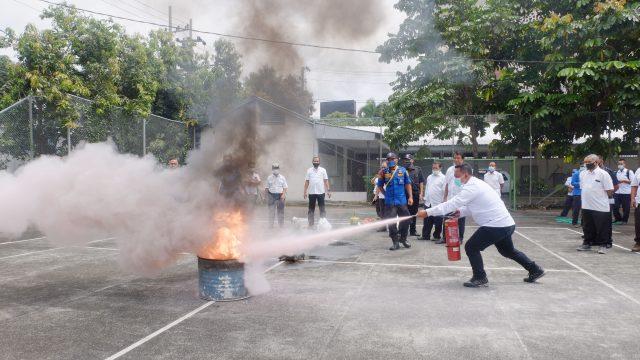 Cegah Resiko Kebakaran, BBWS SO Gelar Pelatihan Penggunaan APAR