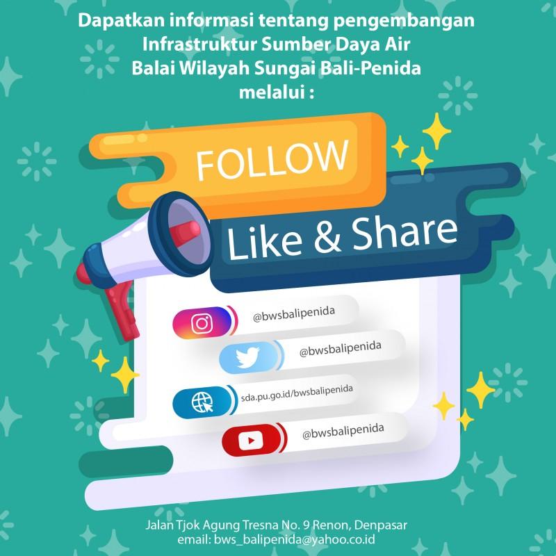 Media Sosial Balai Wilayah Sungai Bali-Penida