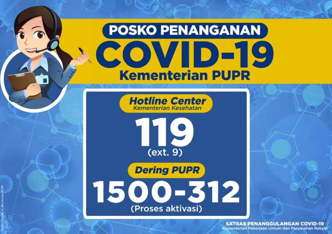 posko penanganan Covid-19 di KemenPUPR
