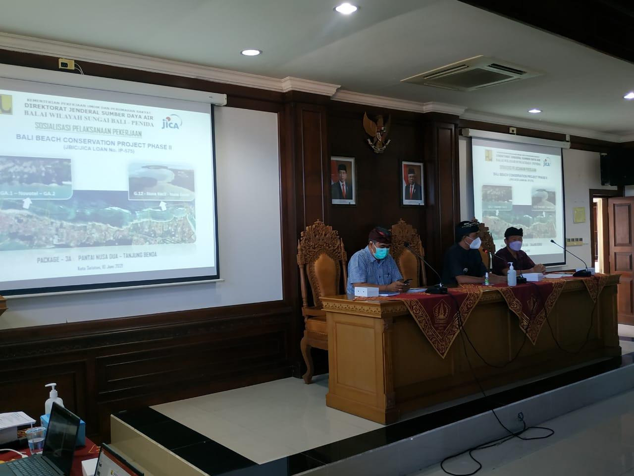 Kegiatan Sosialisasi Awal Rencana Konservasi Pantai Nusa Dua dan Tanjung Benoa.