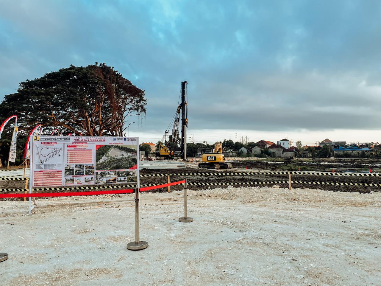 Pekerjaan Pembangunan Embung Sanur di Kota Denpasar