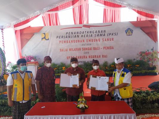 Kegiatan Penandatanganan PKS  dan Ground Breaking Pembangunan Embung Sanur