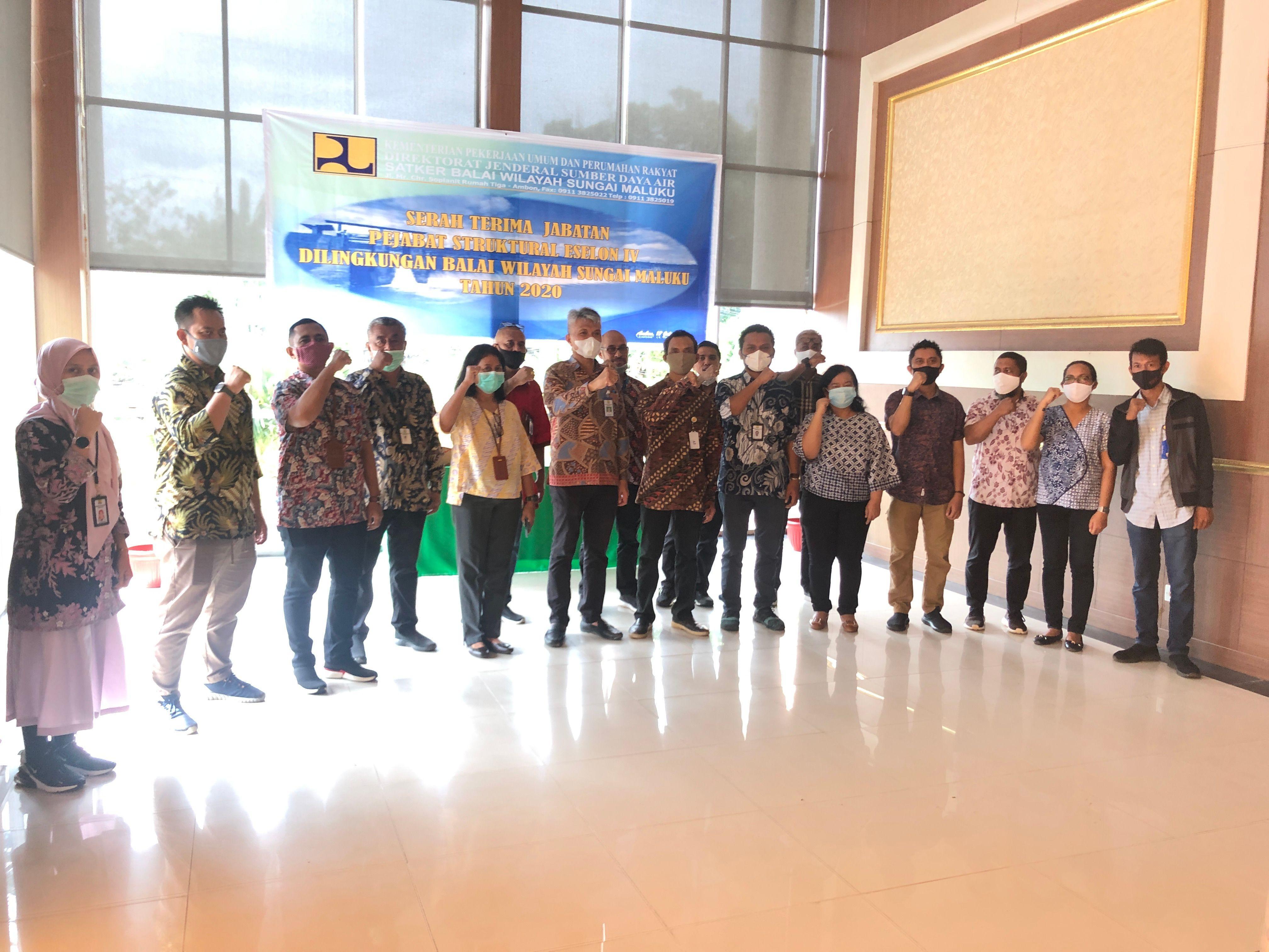 Serah Terima Jabatan Jabatan Struktural Eselon IV di Lingkungan Balai Wilayah Sungai Maluku