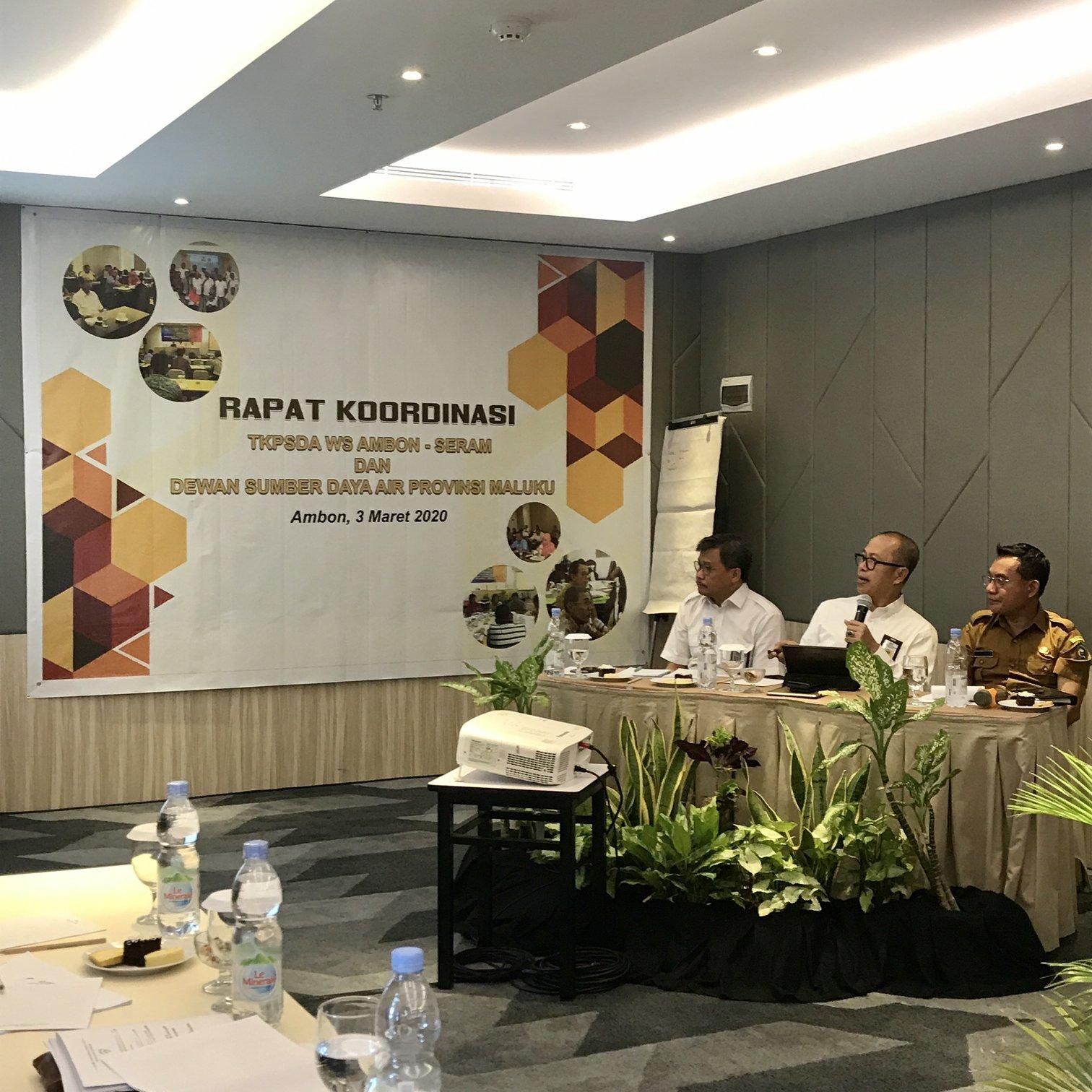 Rapat Kordinasi TKPSDA Ambon-Seram dan Dewan SDA Provinsi Maluku