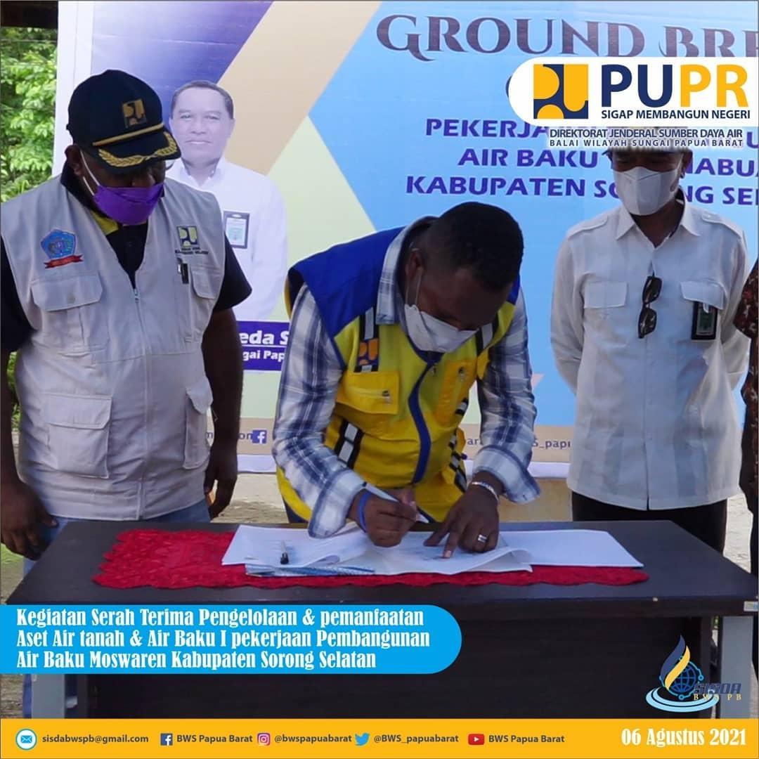 BWS Papua Barat Serahkan Pengelolaan Aset Air Baku Muswaren