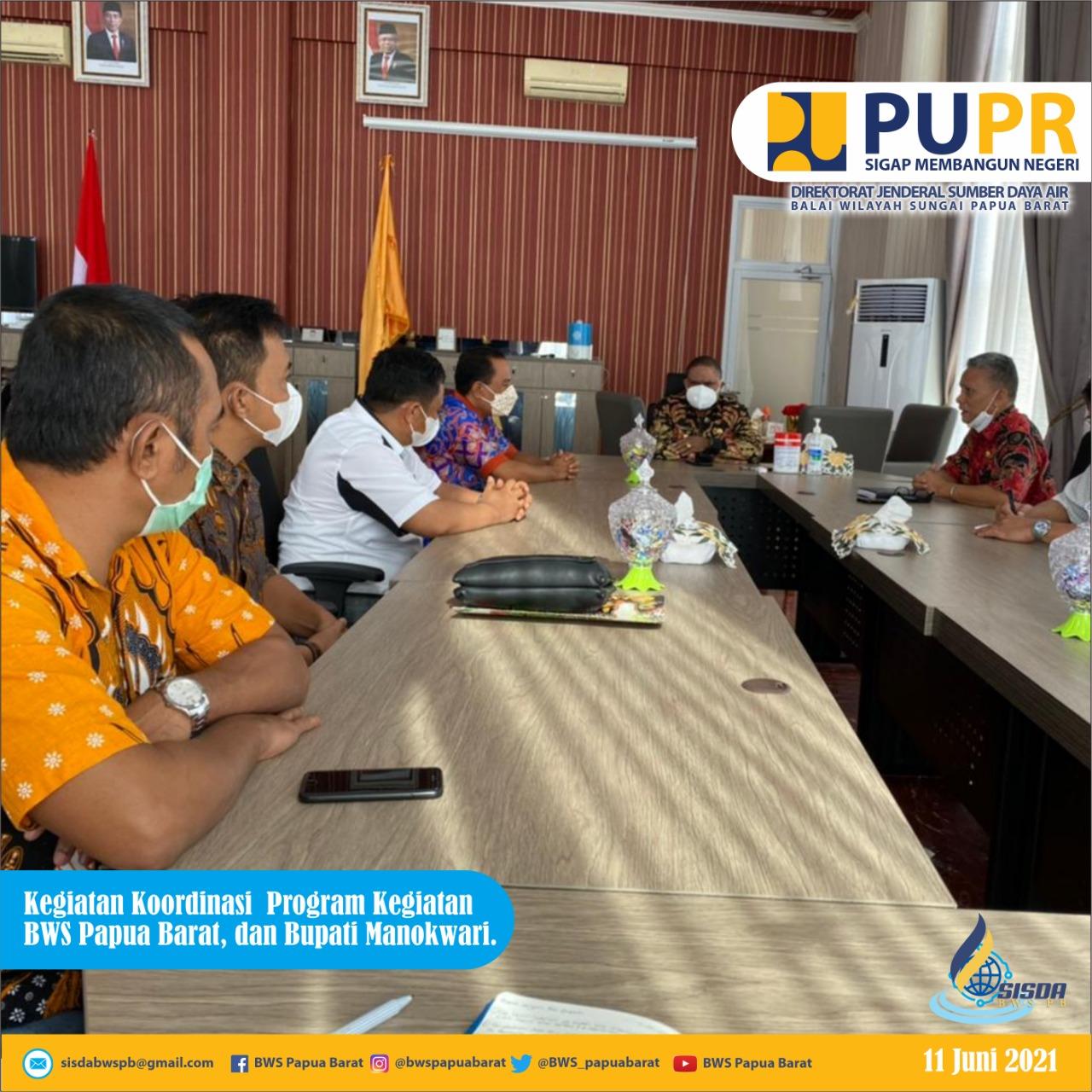 Dukung Program Prioritas, Kepala BWS Papua Barat Audience Bersama Bupati Manokwari