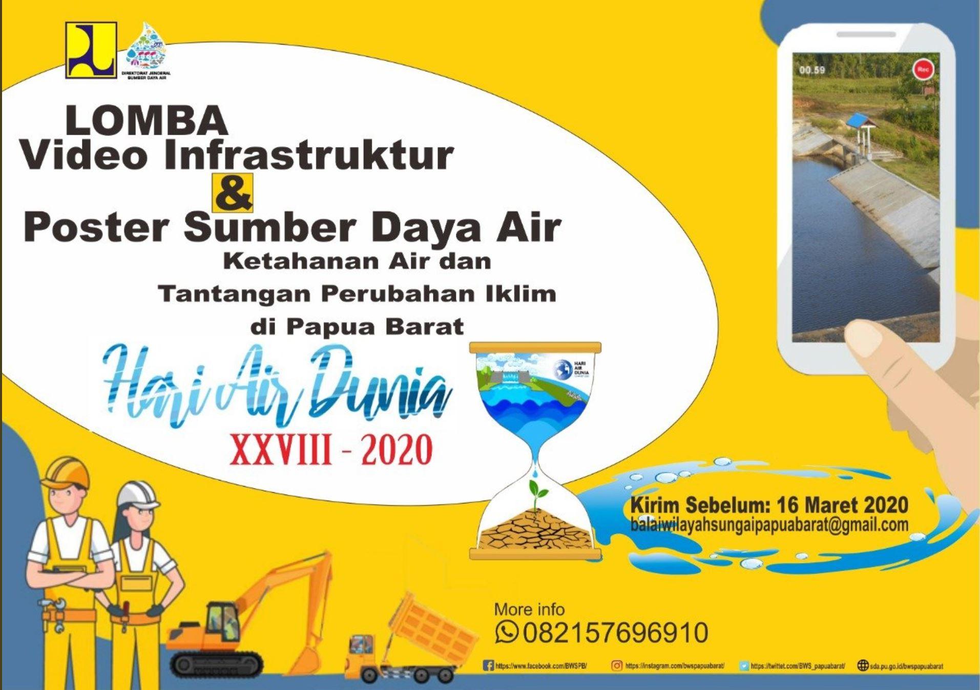 Lomba Video Infrastruktur dan Poster Sumber Daya Air