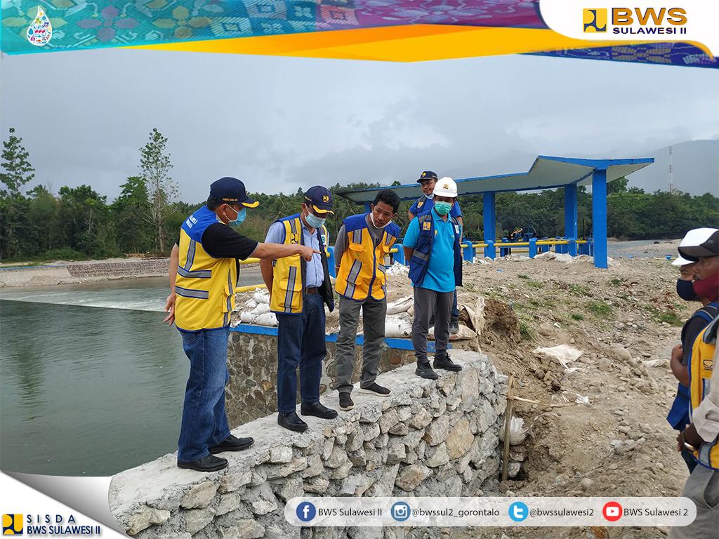 BWS Sulawesi II Gorontalo Percepat Penanganan Darurat Bencana Banjir Sungai Bone, Bendung Alale, Kabupaten Bone Bolango