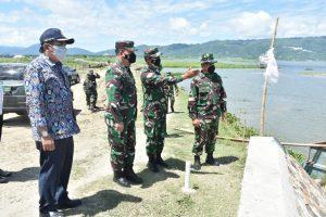 Pangdam XIII/Merdeka Kunjungan Kerja Ke Danau Limboto