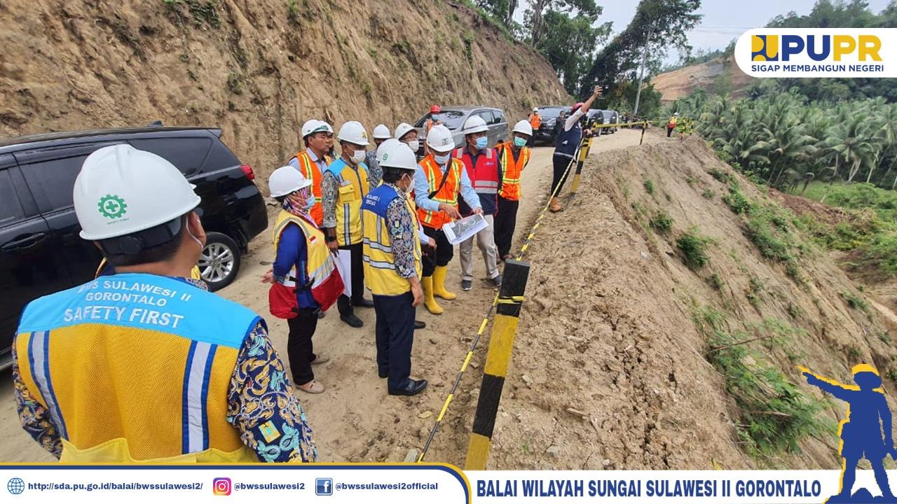 BPKP DAN SEKDA BONE BOLANGO Kunjungi Lokasi Pembangunan Bendungan Bulango Ulu