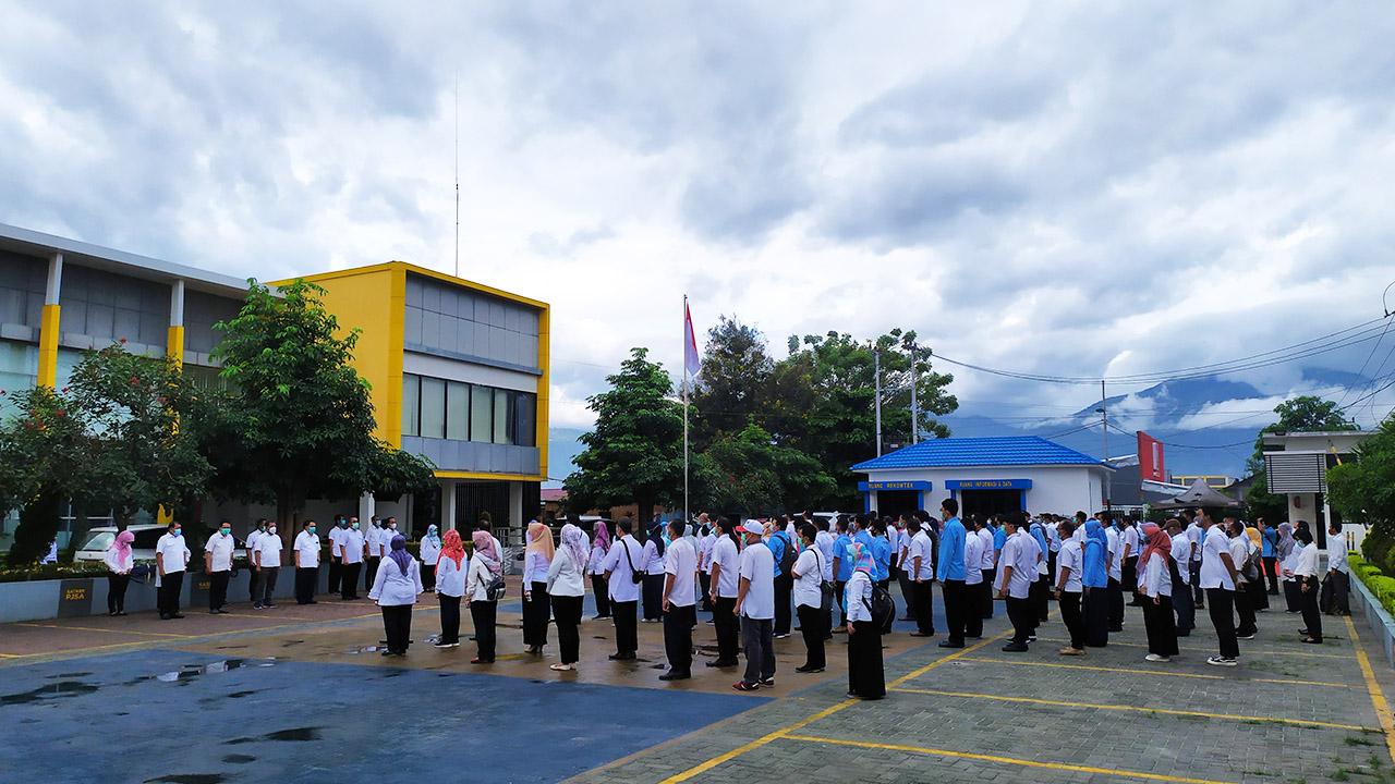 Giat Apel Pagi di BWS Sulawesi III Palu Latih Kedisiplinan
