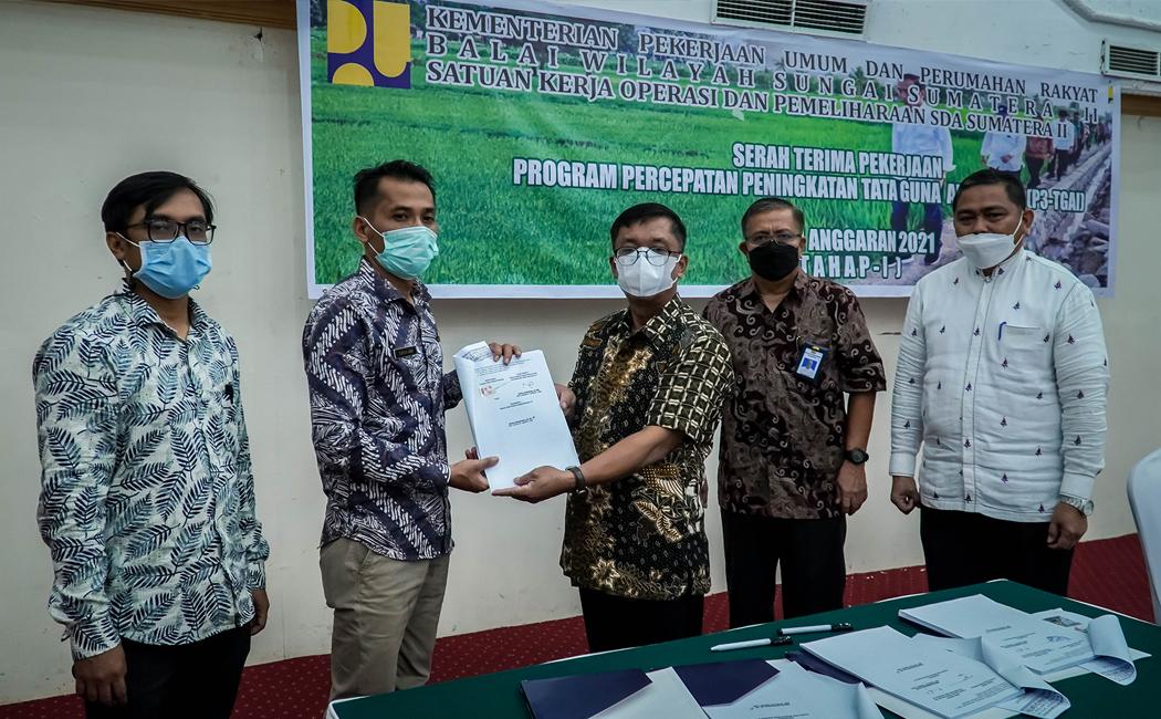 Serah Terima Pekerjaan P3-TGAI Tahap I BWS Sumatera II
