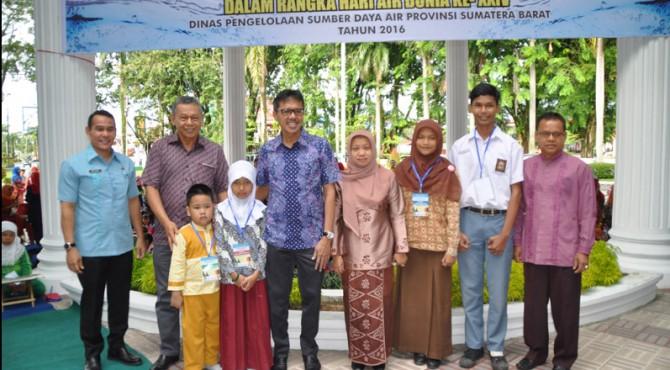 Peringati Hari Air Sedunia, Gubernur Sumbar Buka Lomba Menggambar Tingkat SD se-Kota Padang
