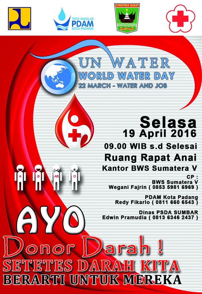 Aksi Donor Darah Kantor Balai Wilayah Sungai Sumatera V