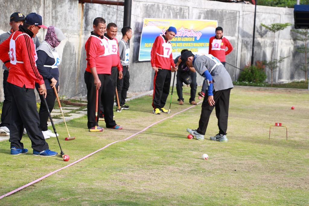 Pertandingan Persahabatan GateBall BWS Sumatera V dengan BWS Kalimantan III