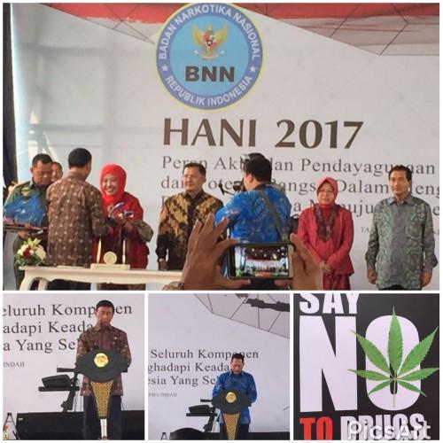 Kementerian PUPR Menerima Penghargaan HANI 2017 dari BNN