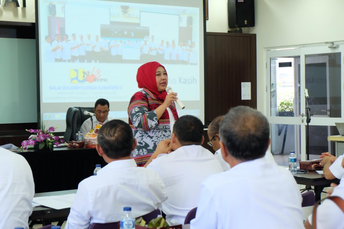 BWS Sumatera V Wakili Ditjen SDA Menuju WBK dan WBBM