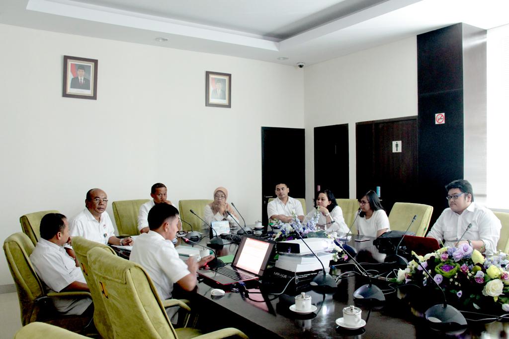 Rapat WBK-WBBM BWS Sumatera V dengan Sekretariat Inspektorat Jendral Kementerian PUPR dalam Monev Tindak Lanjut Rekomendasi Pembangunan Zona Integritas