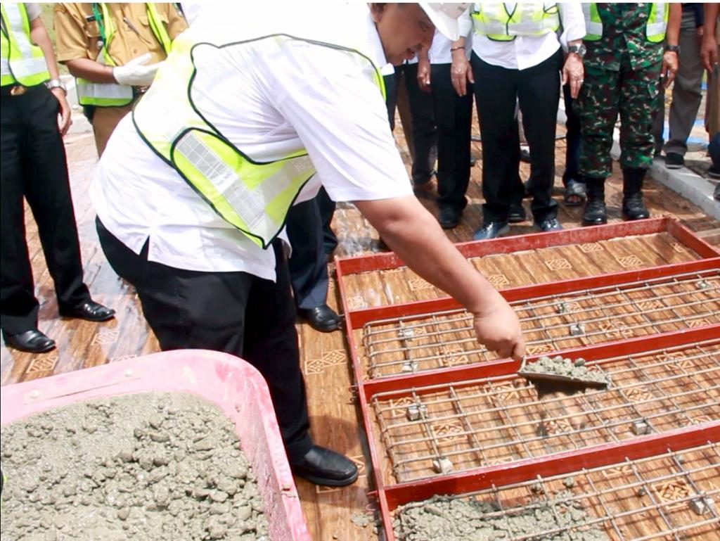 Peletakan Batu Pertama (Groundbreaking)  DI Batang Anai II Lanjutan PIRIMP