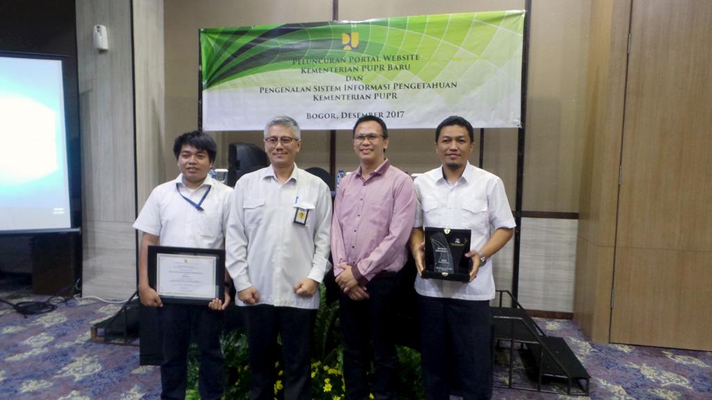 Website BWS Sumatera V Terbaik Dalam Unit Kerja Lomba Konten dan Tata Kelola
