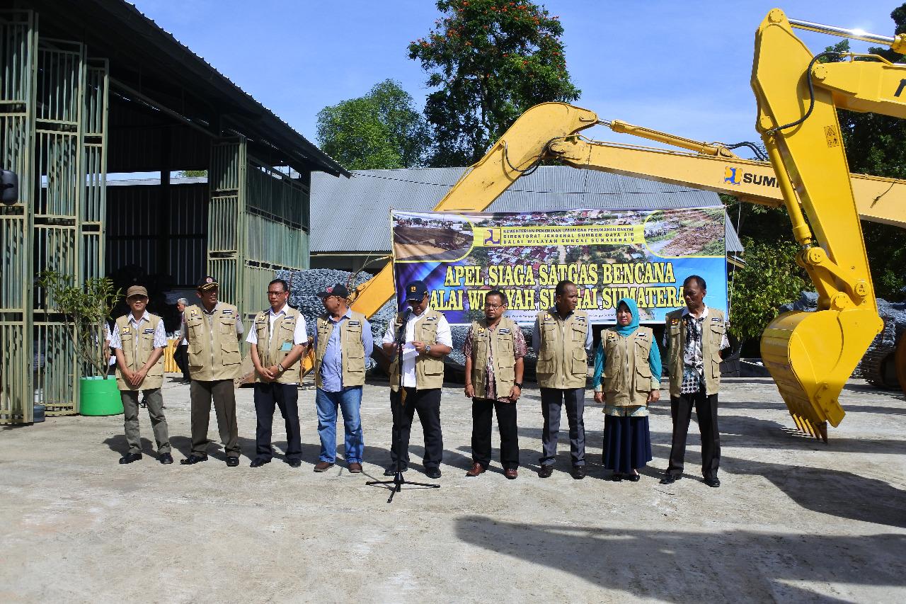 BWS Sumatera V Adakan Apel Siaga Satgas Bencana