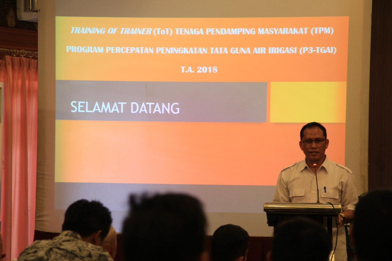 Training Of Trainer (TOT) Tenaga Pendamping Masyarakat (TPM) P3-TGAI Tahun 2018