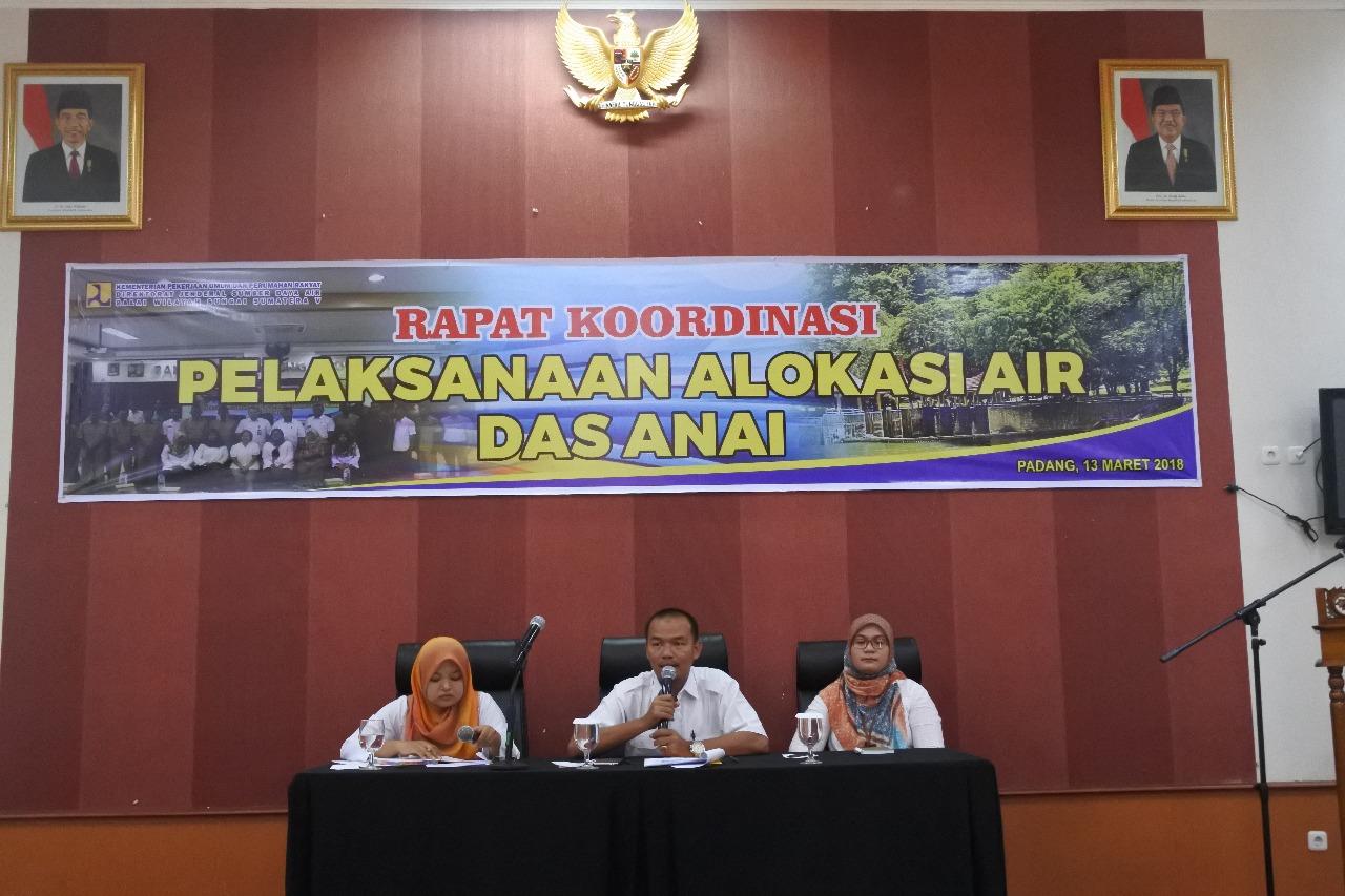 Rapat Koordinasi Pelaksanaan Alokasi Air DAS Anai