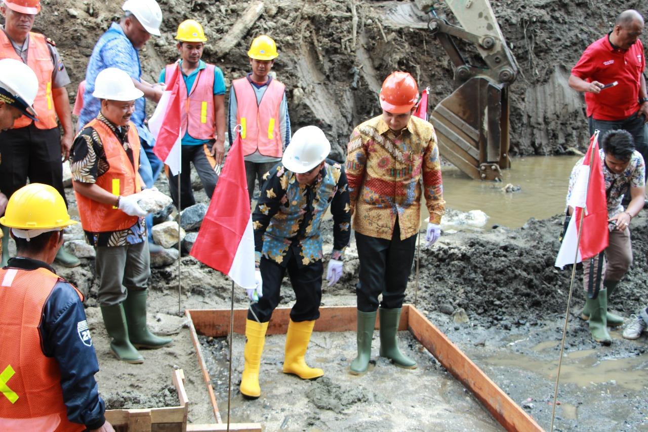 Peletakan Batu Pertama Embung Tambuo Tabek Gadang Kota Bukittinggi