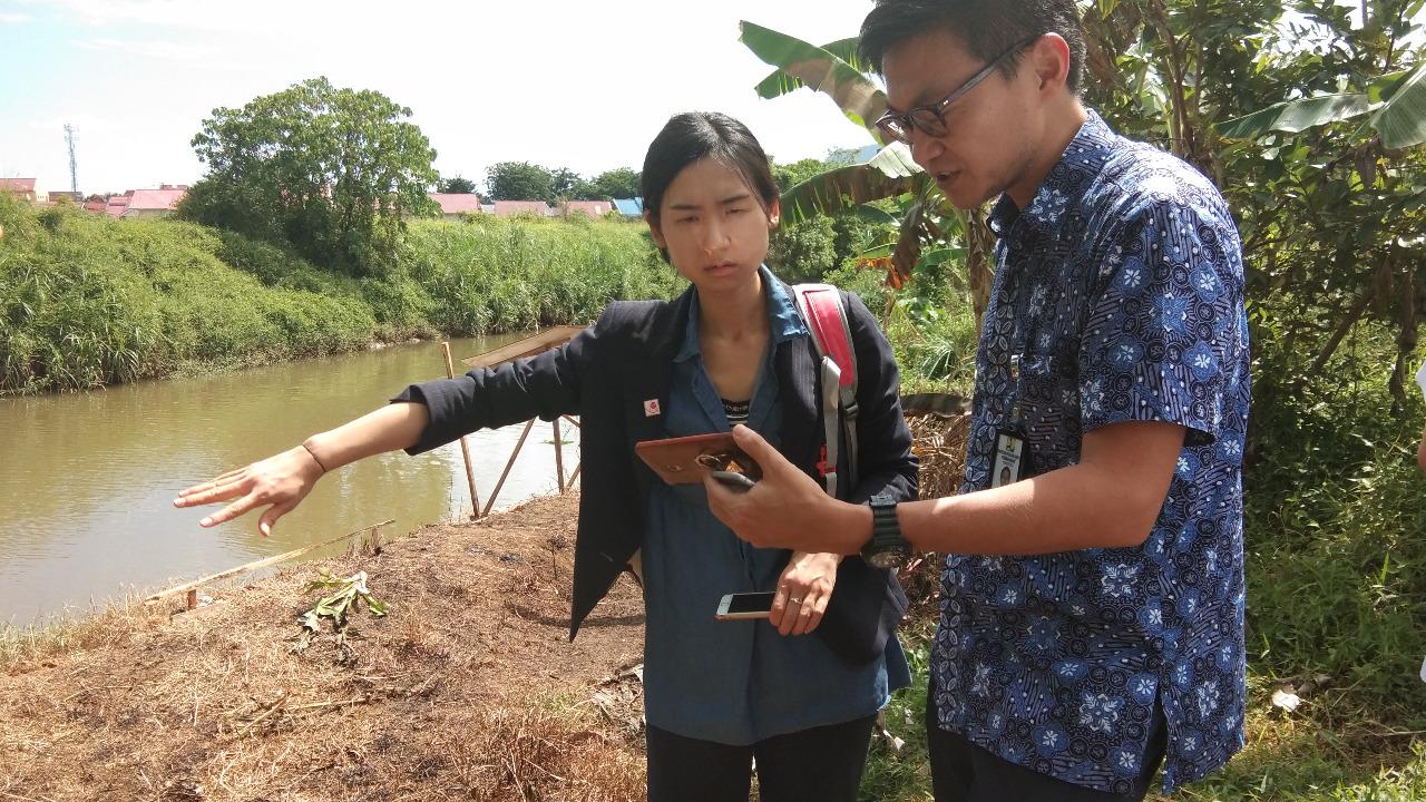Japan International Cooperation Agency (JICA) Kunjungi Proyek Pembangunan Pengendalian Banjir Batang Kandis