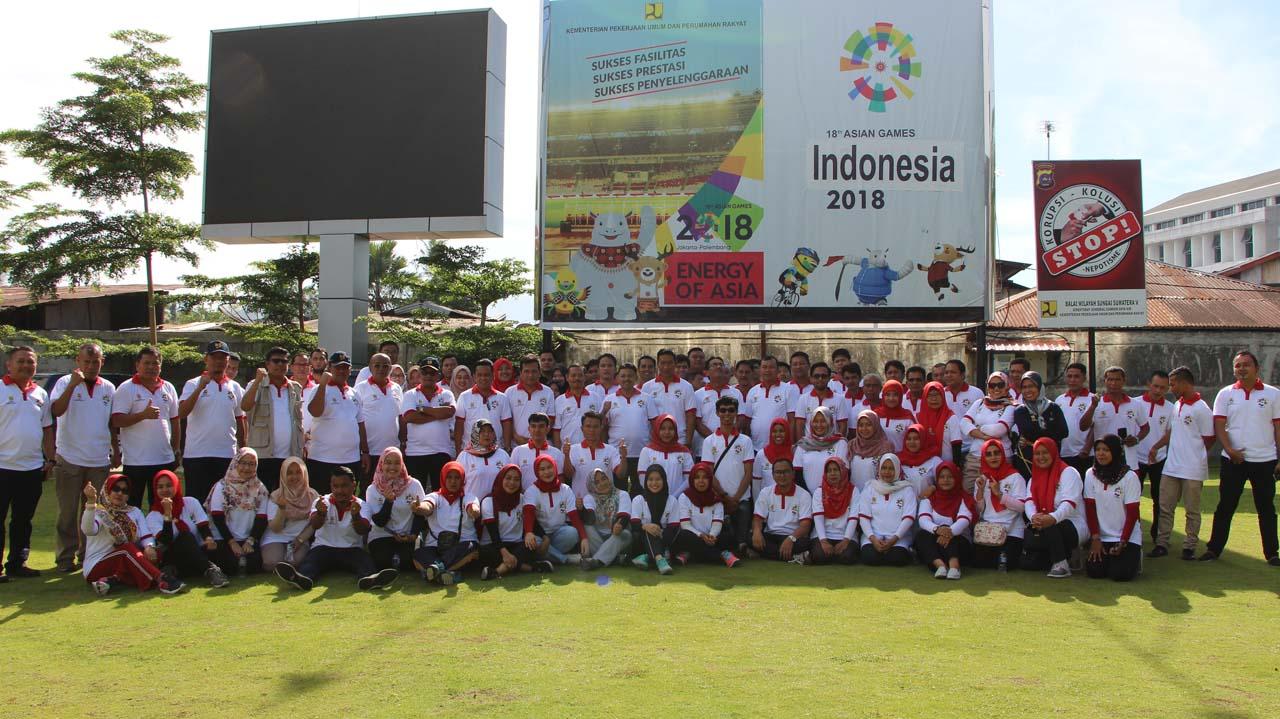 Gateball BWS Sumatera V, Semangat, Semangat, Semangat, Jaya, Jaya, Jaya !!!!