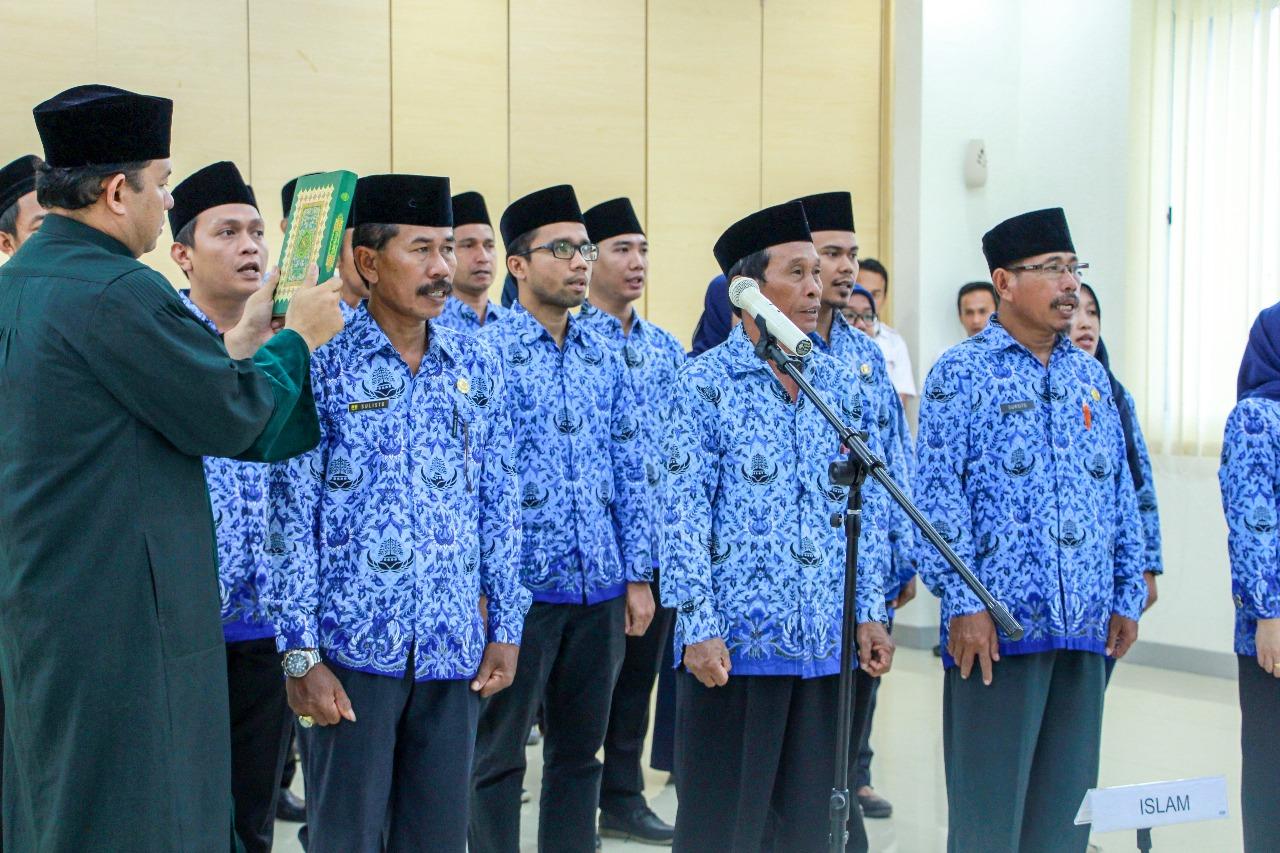Pengambilan Sumpah PNS di Lingkungan BWS Sumatera V dan BWS Sumatera III