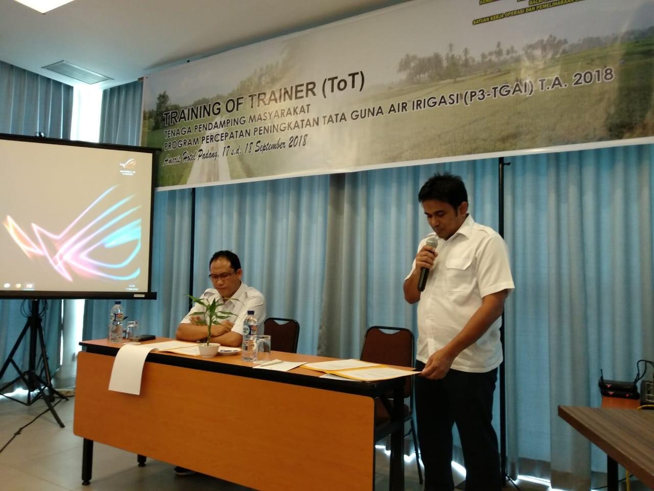 TOT Tahap III Tenaga Pendamping Masyarakat dalam P3-TGAI TA. 2018