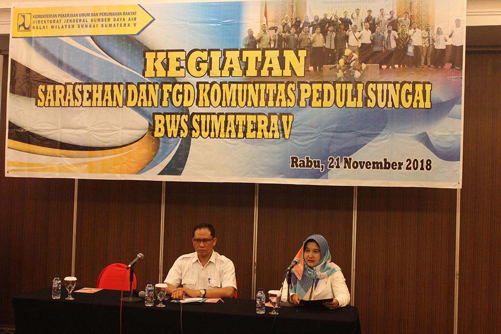 Sarasehan dan FGD Komunitas Peduli Sungai BWS Sumatera V