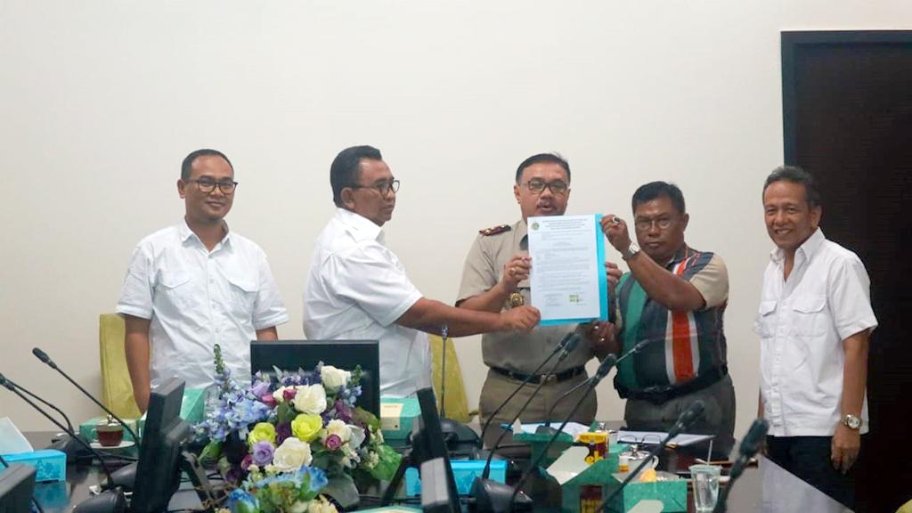 Masyarakat Sambangi BWS S V Guna Berikan Hak Pelepasan Atas Tanah Pekerjaan Pengendalian Banjir Batang Kandis