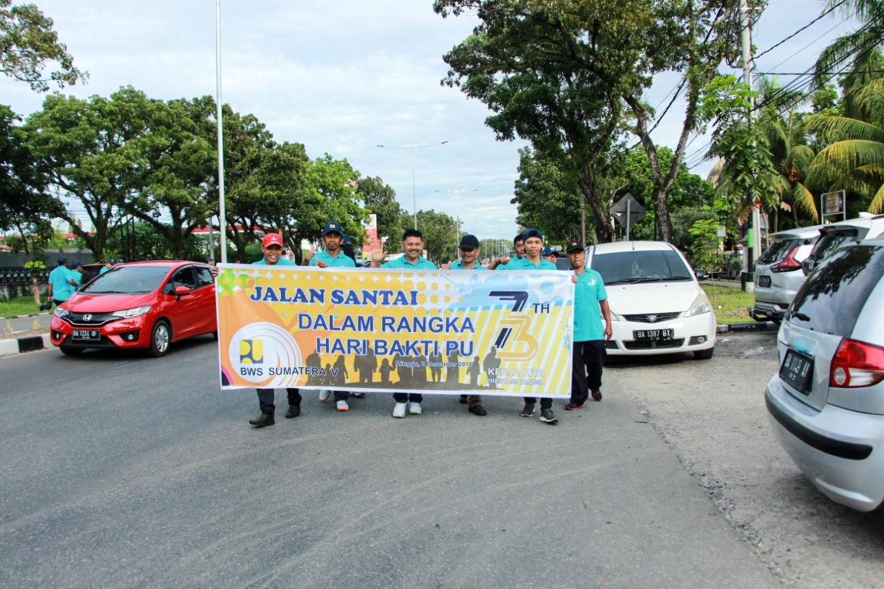 BWS Sumatera V Sambut Hari Bakti PU ke 73