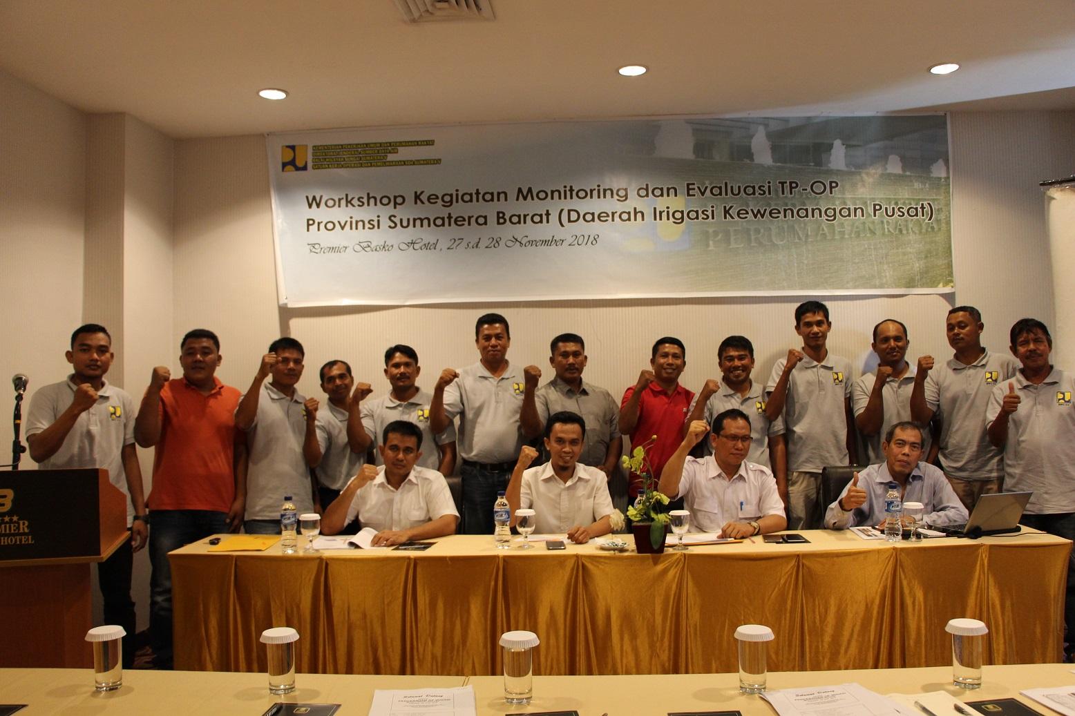 Workshop Kegiatan Monitoring dan Evaluasi TP-OP Provinsi Sumatera Barat Bicarakan Kebijakan O&P Irigasi Ke Depan
