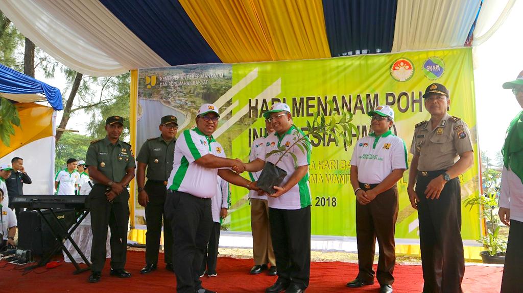 BWS Sumatera V Galang Penanaman 10.600 Pohon Dalam Rangka Hari Bakti PU dan HUT Dharmawanita
