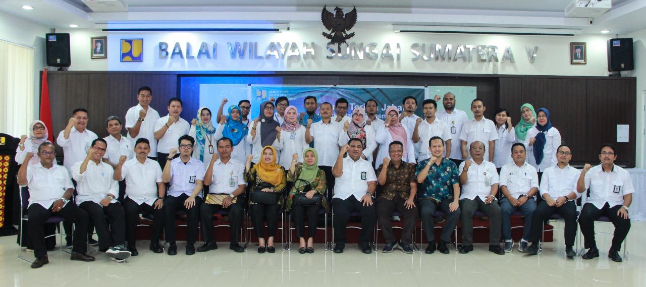 Serah Terima Jabatan Pejabat Struktural, Satker dan PPK di Lingkungan BWS Sumatera V