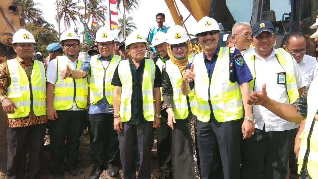 Peletakan Batu Pertama Pembangunan Pengaman Pantai Muara Kandis Jawab keresahan Masyarakat Pesisir Selatan