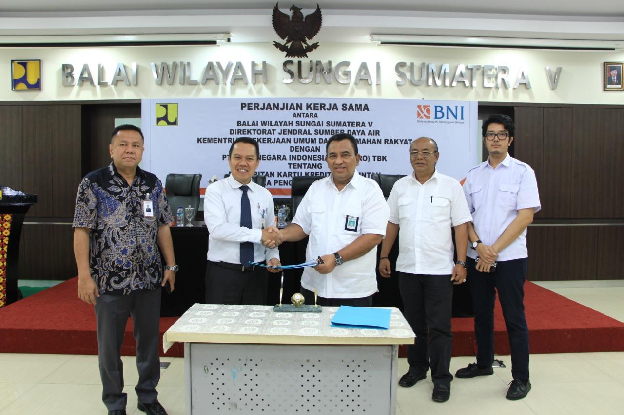 Kerjasama BWS Sumatera V dengan PT. Bank Negara Indonesia (Persero TBK) terkait Kartu Kredit Pemerintah