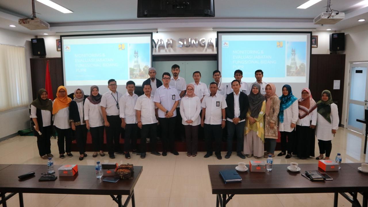 Para Jafung Teknik Pengairan di BWS Sumatera V Ikuti Monitoring dan Evaluasi Pejabat Fungsional