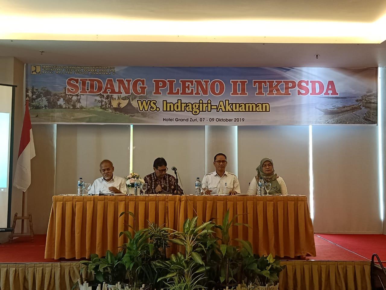 Sidang Pleno Ke II TKPSDA WS. Indragiri-Akuaman
