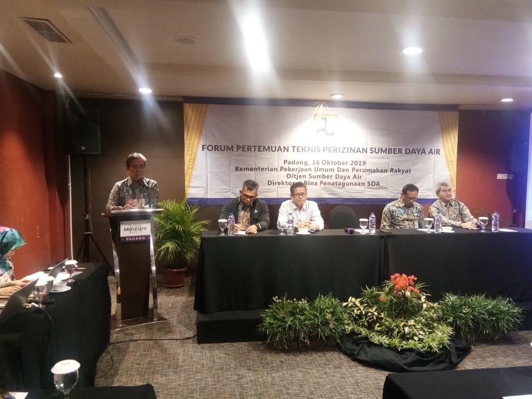 Forum Pertemuan Teknis Perizinan PSDA Di Kota Padang