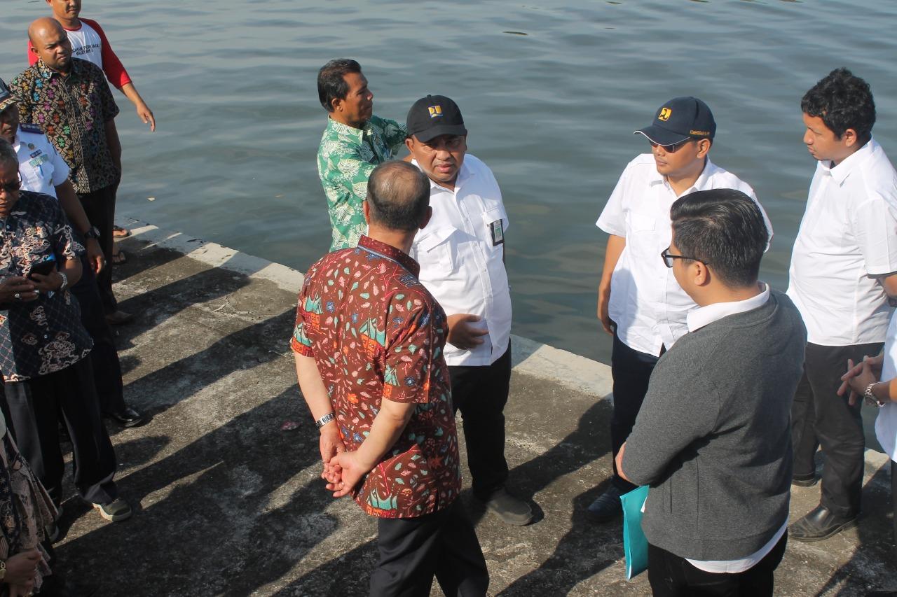 Wagub Nasrul Abit Didampingi BWS Sumatera V dan Para OPD Terkait Tinjau Bakal Lokasi Pemindahan Kapal Nelayan Ke Dermaga Anai dan Bungus