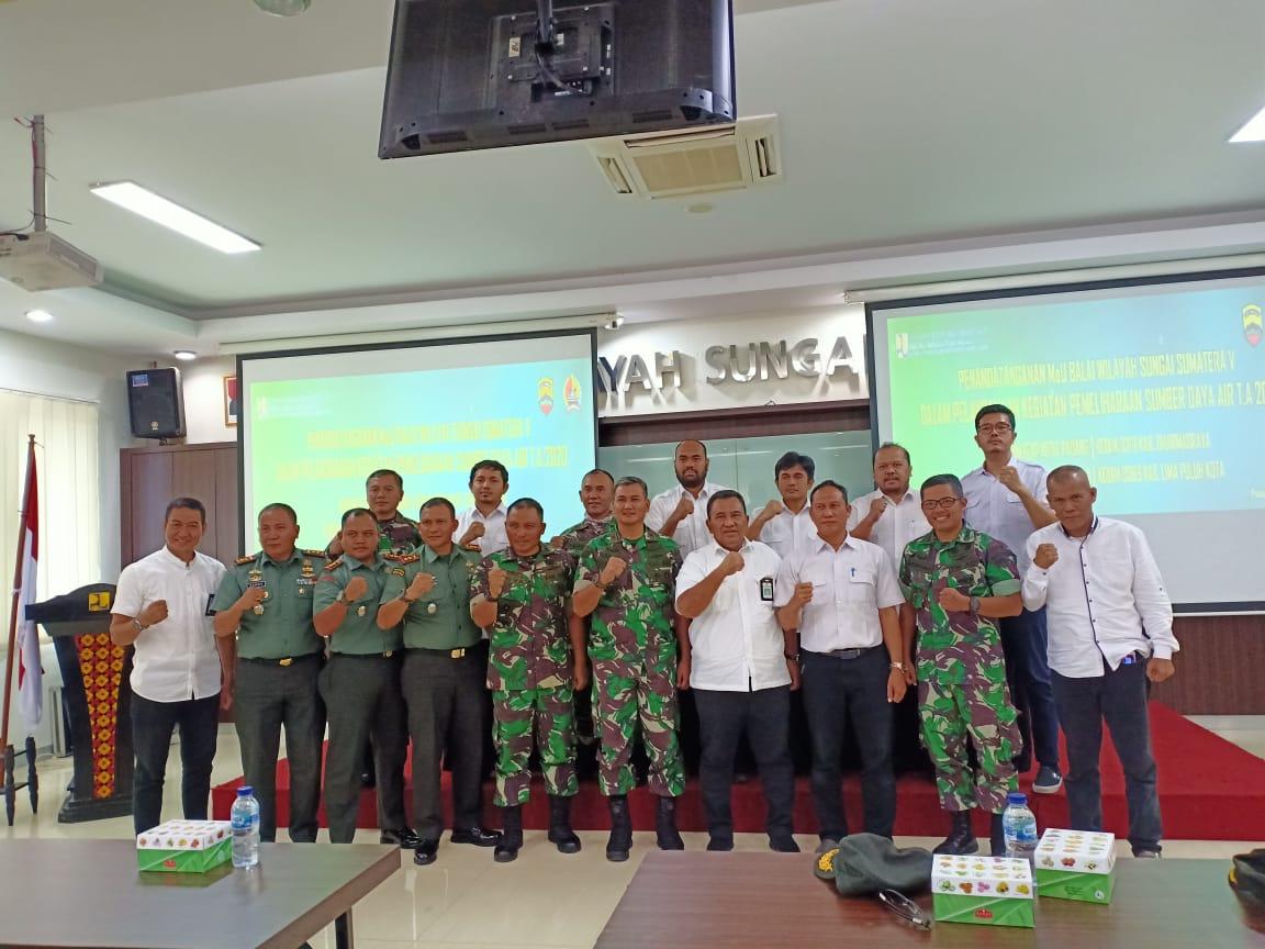 Sinergi BWS Sumatera V dan Beberapa Kodim di Sumatera Barat